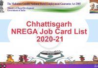 CG nrega job card 2020