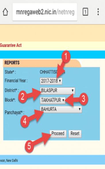 Chhattisgarh MGNREGA Job Card List