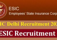 ESIC Delhi Recruitment