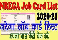 NREGA list 2020