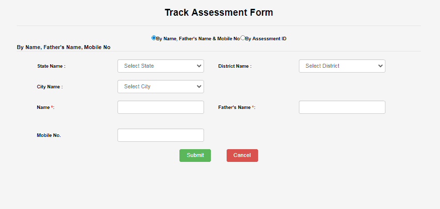 PM Awas Track Assessment Form