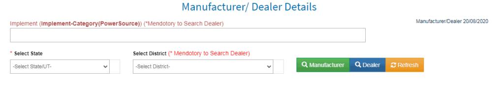manufacturer/dealar details