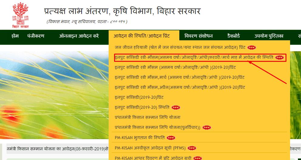 krishi input subsidi scheme application status
