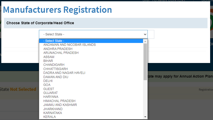 SMAM Kisan Yojana Manufacturer Registration