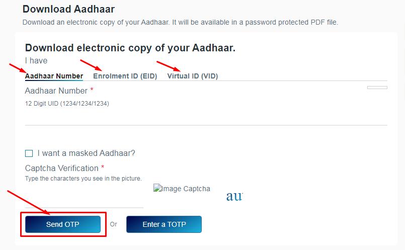 print & download aadhaar
