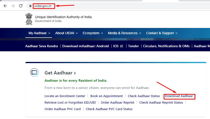 get aadhaar