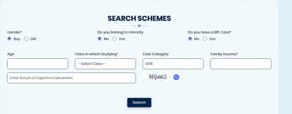 Search schemes