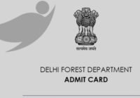 delhi forest guard exam admit card