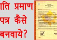rajasthan caste certificate form pdf