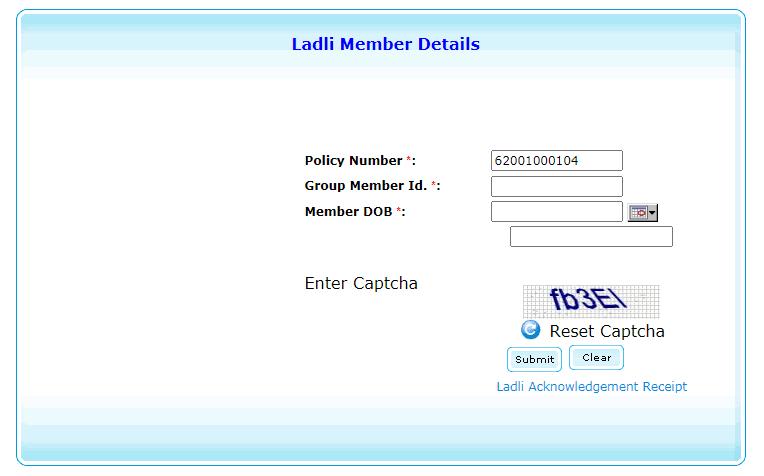 Delhi Ladli Yojana Application Status
