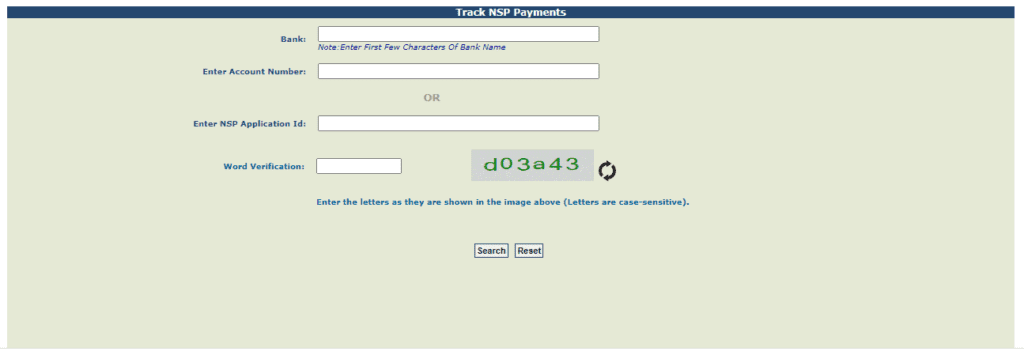 Track NSP Payments