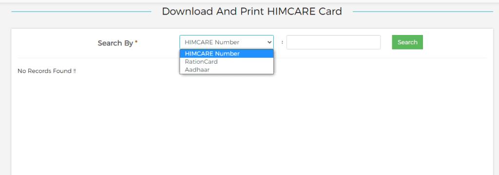 print himcare card