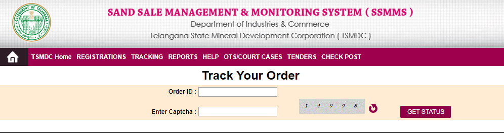 Telangana Sand Booking Track Your Order
