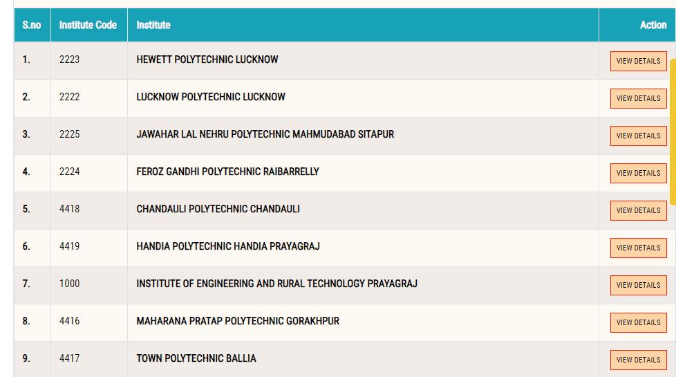 urise portal list of polytechnics circle
