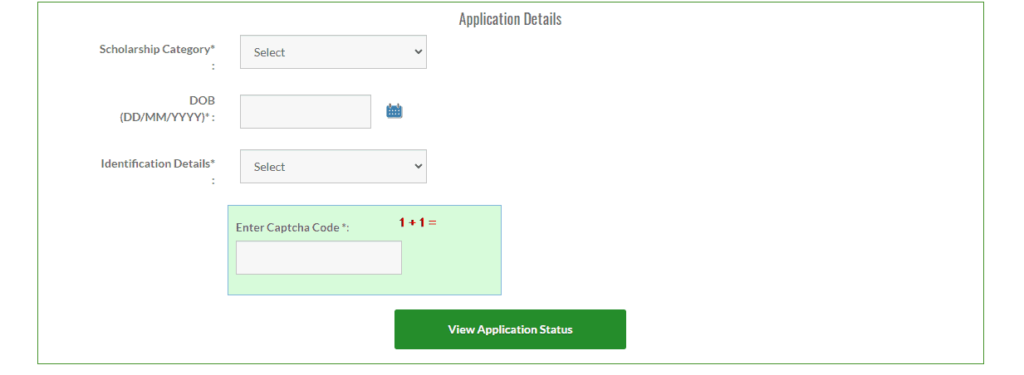 begum hazrat mahal scholarship application status