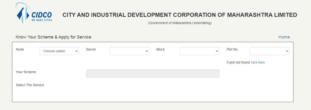 cidco online application form