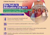 sc post matric scholarship