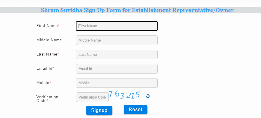 shram suvidha portal sign up