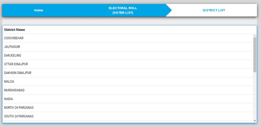west bengal Voter list