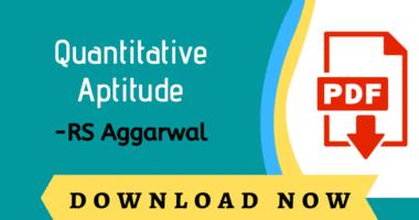 Quantitative Aptitude Book PDF By Rs Aggarwal Free Download