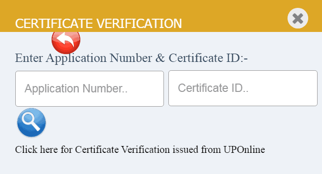 up income certificate verify online