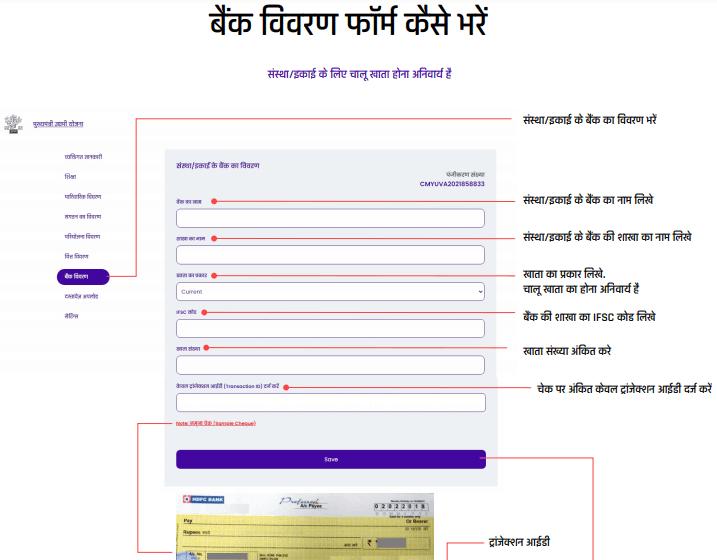 bihar mukhymantri yuva udyami yojana bank details