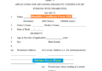 disability certificate form