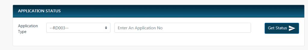 nadakacheri application status