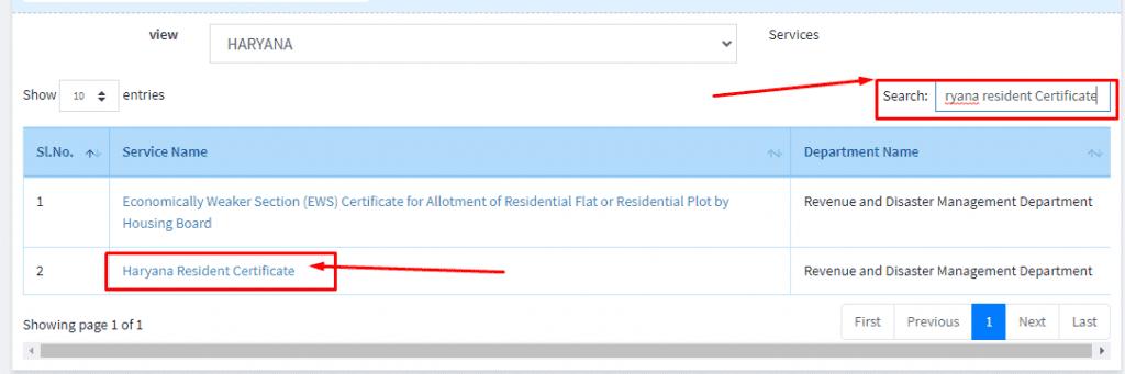 apply online haryana residence certificate
