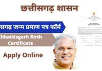 chhattisgarh birth certificate form pdf