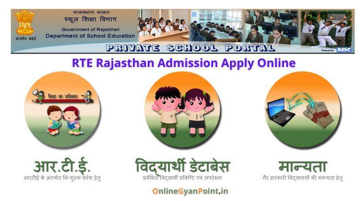 RTE Rajasthan Admission