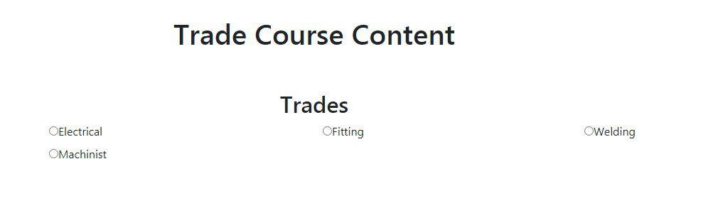 Trade Course
