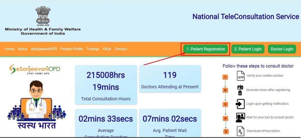 esanjeevani opd patient registration