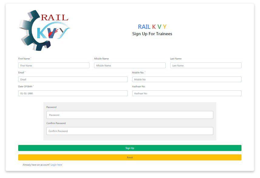 rail kaushal vikas yojana apply online