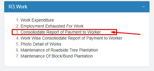 roport of payment to workers