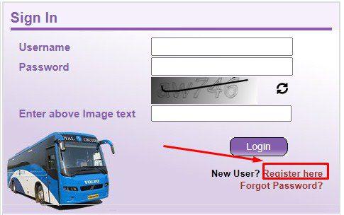 upsrtc online reservation register
