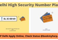 Delhi High Security Number Plate